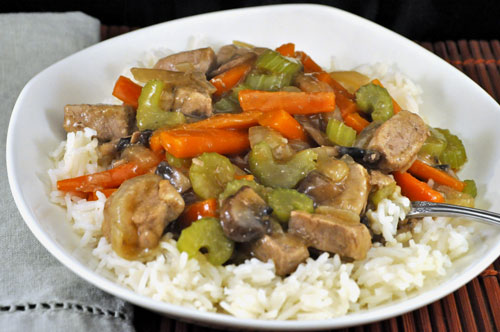 Stir-Fried Pork and Celery