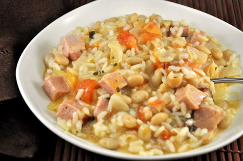 Ham and White Bean Risotto