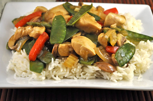 Stir-Fried Chicken with Snow Peas