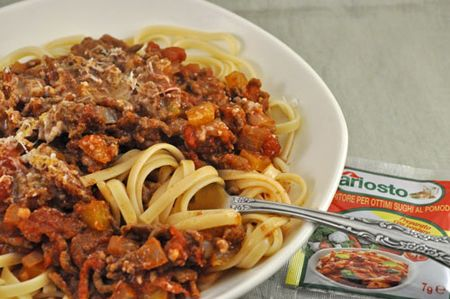 Linguini with Meat Sauce