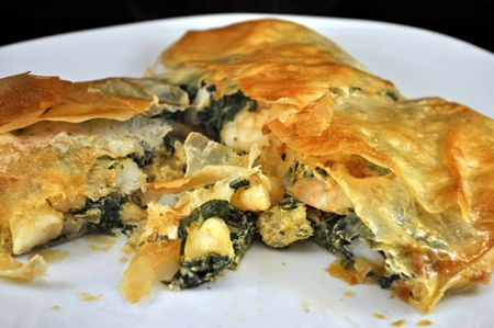 Shrimp and Spinach Pie