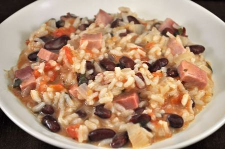 Risotto with Red Beans and Ham