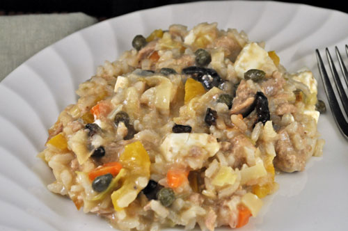 Tuna, Caper and Feta Risotto