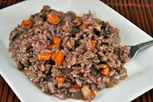 Red Wine Risotto with Beef and Mushrooms - Thyme for Cooking, Blog